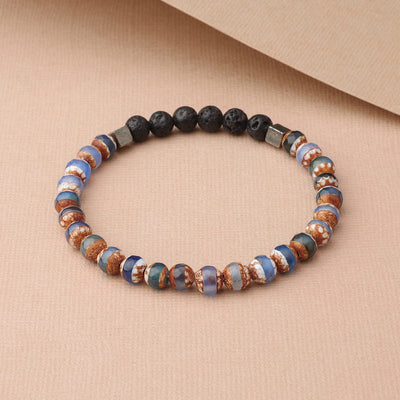 Striped Tibetan Agate (Blue)