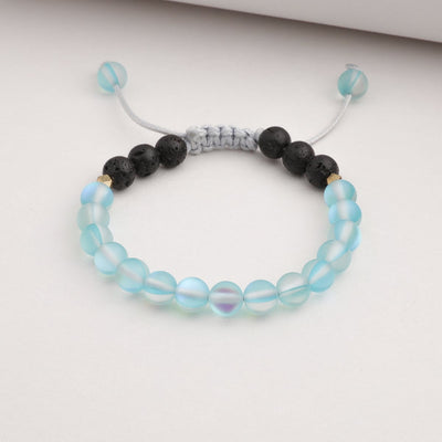 Kids Glow Glass Adjustable Bracelet (Blue)