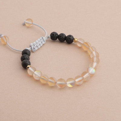 Kids Glow Glass Adjustable Bracelet (Champagne)
