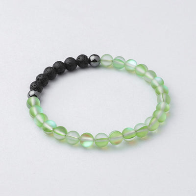 Glow Glass Diffuser Bracelet (Green)