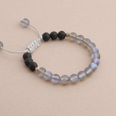 Kids Glow Glass Adjustable Bracelet (Grey)
