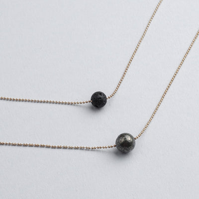 Pure Diffuser Necklace - Pyrite