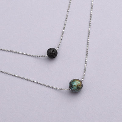 Pure Diffuser Necklace - African Turquoise