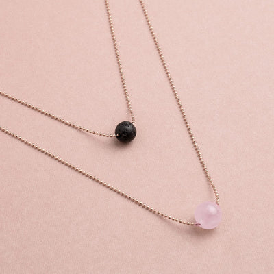 Pure Diffuser Necklace - Rose Quartz
