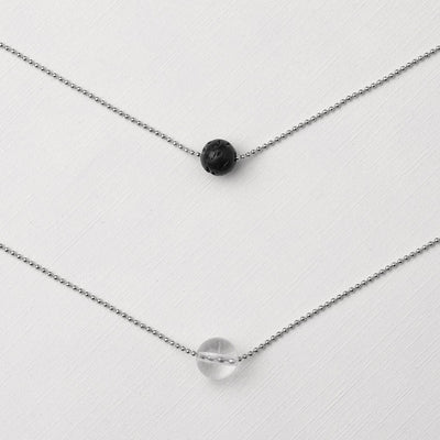 Pure Diffuser Necklace - White Crystal