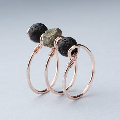Pyrite Triple Wrap Diffuser Ring