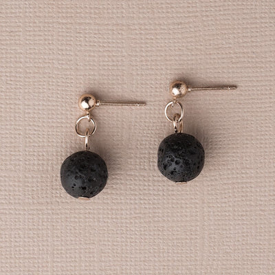 Single Lava Stone Diffuser Earrings