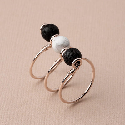Triple Wrap Howlite Diffuser Ring