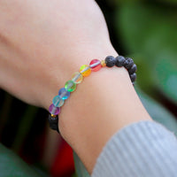 Glow Glass Chakra Kids Adjustable Bracelet