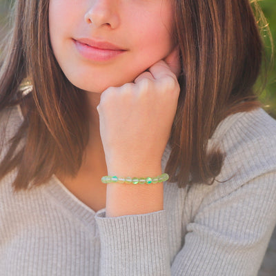 Kids Glow Glass Adjustable Bracelet (Green)
