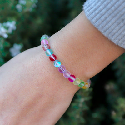 Kids Glow Glass Adjustable Bracelet (Rainbow)