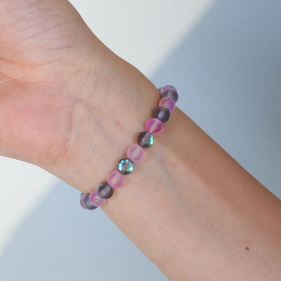 Glow Glass (Grey and Pink)
