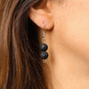 Double Lava Stone Diffuser Earrings