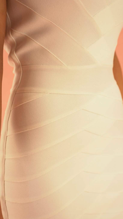 Perla Strapless White Bandage Dress