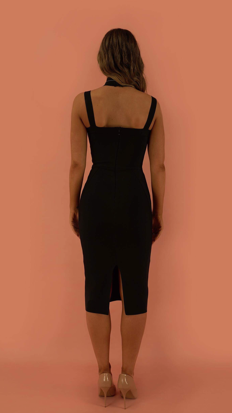 Atarah Black Bandage Dress