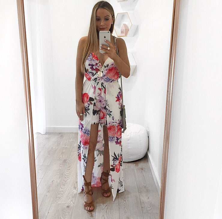 707066785a6 Mackenzie Floral Jumpsuit Maxi Dress – ZIMKAI