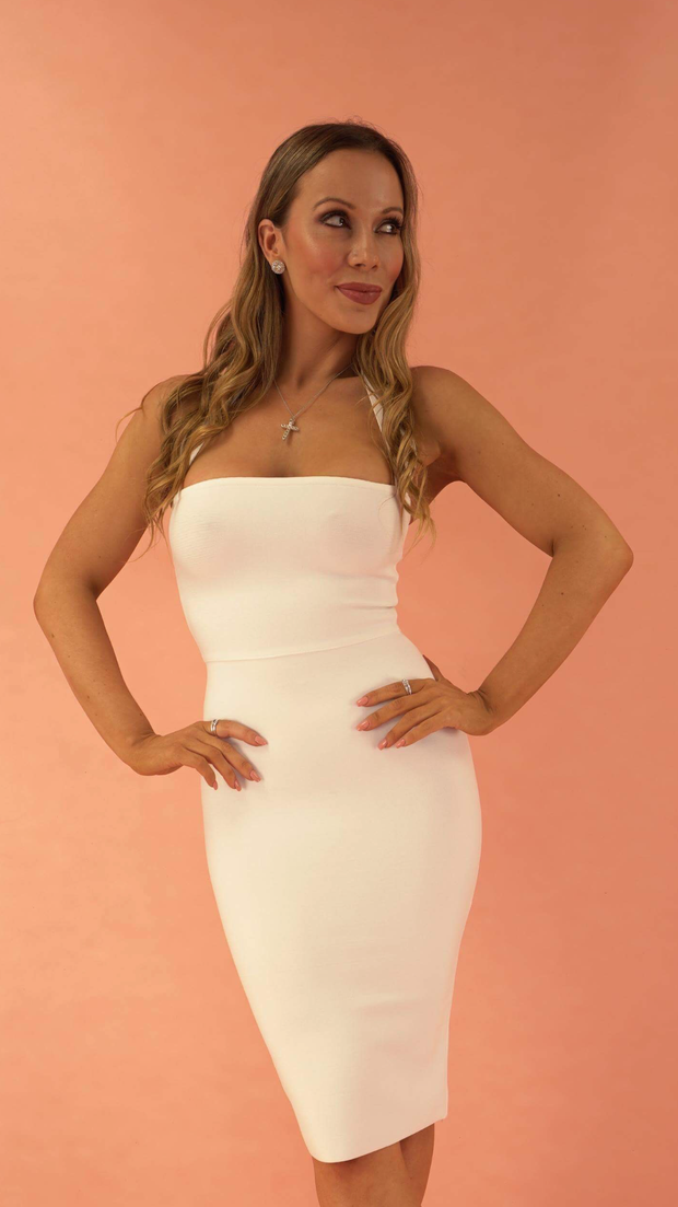 Chara White Bandage Dress