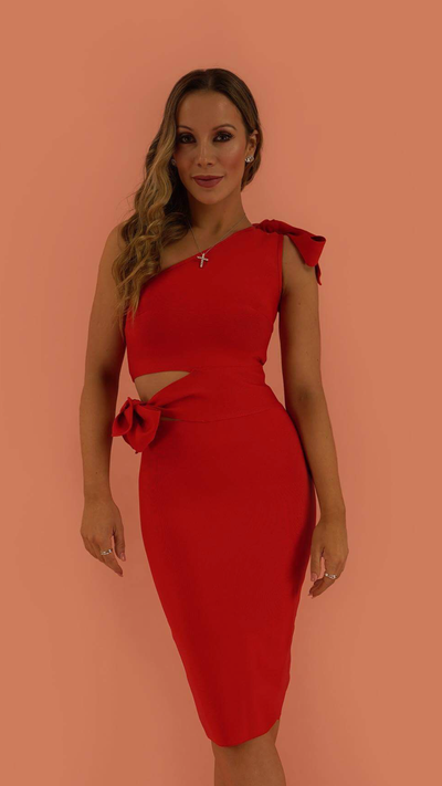 Zemira Red Bandage Dress