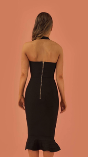 Prosperity Black Bandage Dress