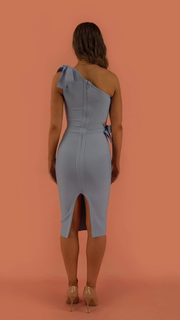 Zemira Blue Bandage Dress