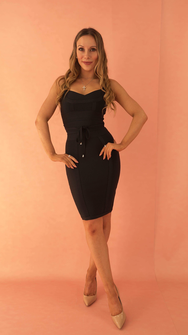 Lucinda Black Bandage Dress