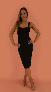 Cleo Black Bandage Dress