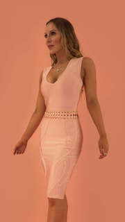 Mildred Pink Bandage Dress