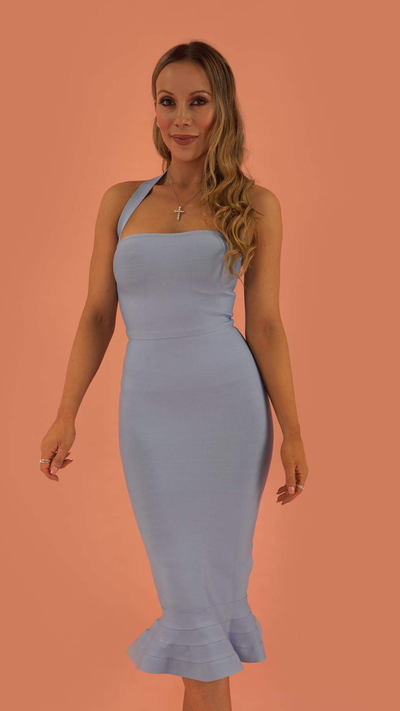 Prosperity Powder Blue Bandage Dress