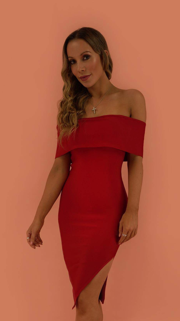 Emersyn Red Bandage Dress