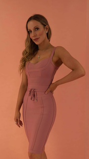 Lucinda Dark Pink Bandage Dress