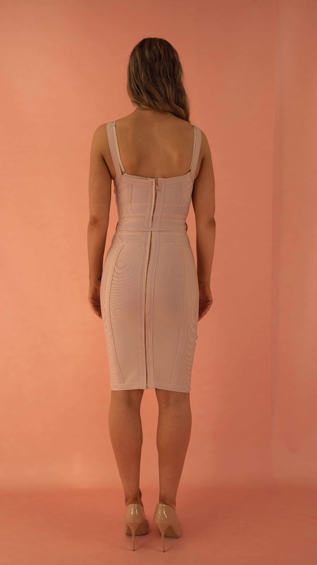 Lucinda Beige Bandage Dress