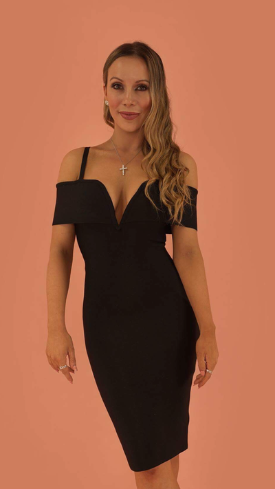 Aurora Black Bandage Dress