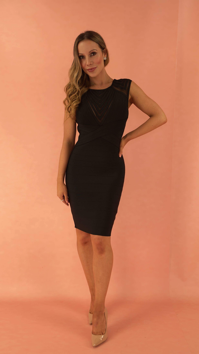Shiloh Black Bandage Dress
