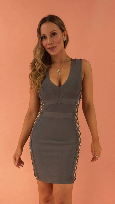 Esther Denim Blue Bandage Dress