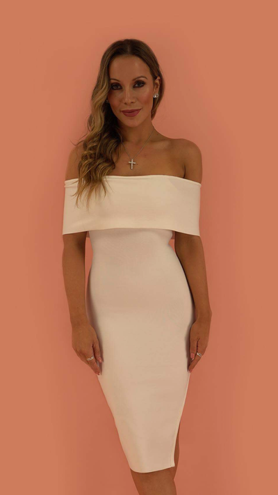 Emersyn White Bandage Dress