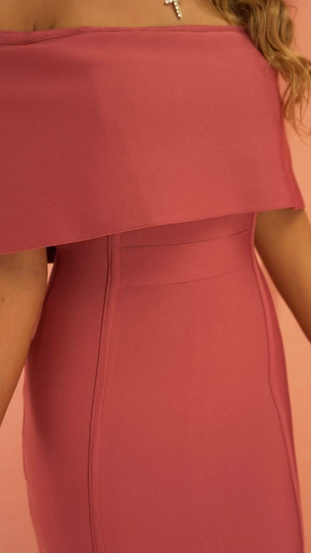 Emersyn Dark Pink Bandage Dress