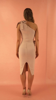 Zemira Beige Bandage Dress