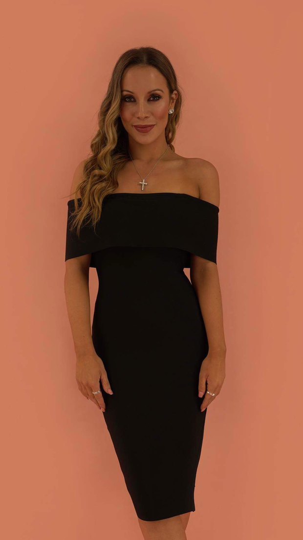 Emersyn Black Bandage Dress