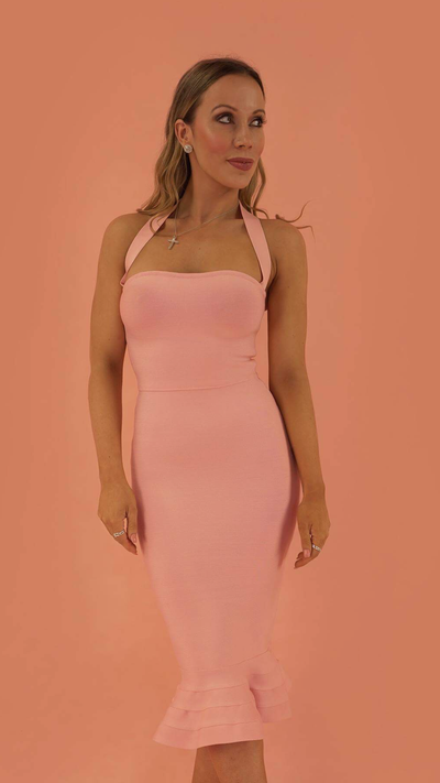 Prosperity Baby Pink Bandage Dress