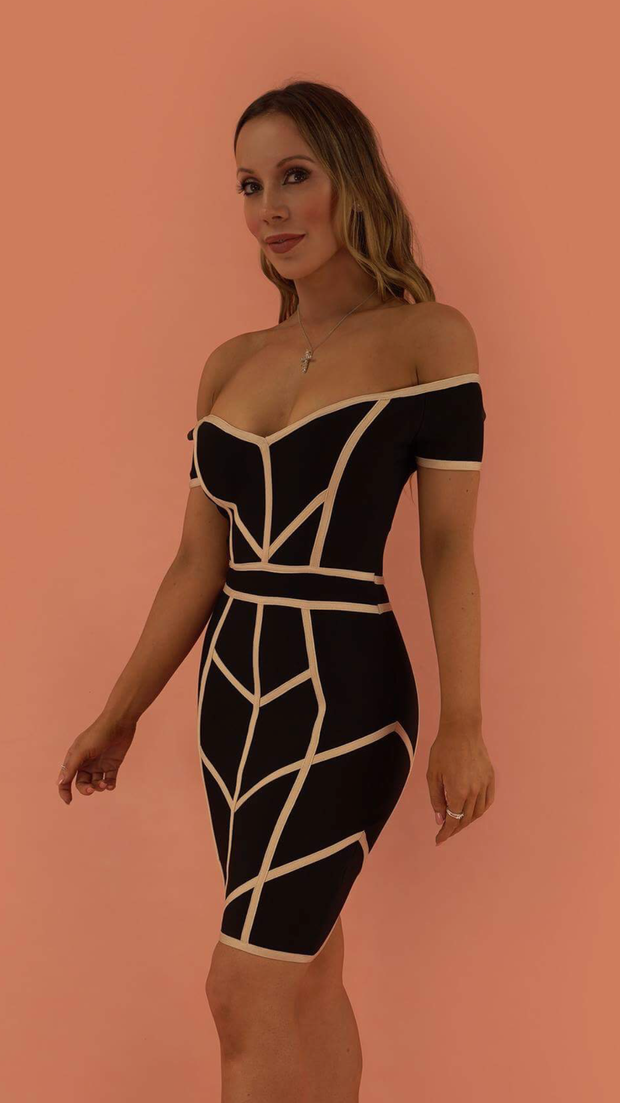 Hadley Black Bandage Dress