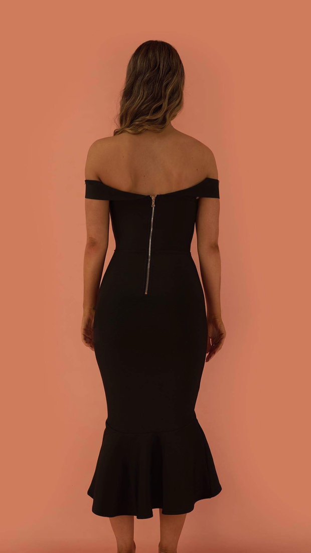 Mishal Black Bandage Dress