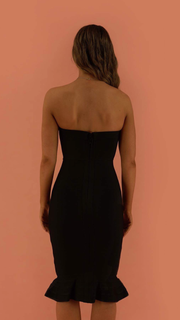Malina Black Strapless Bandage Dress
