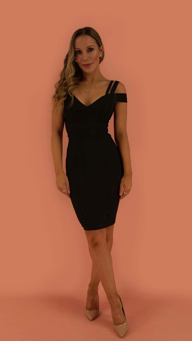 Audrey Black Bandage Dress