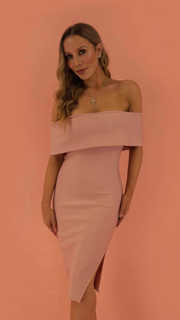 Emersyn Pink Bandage Dress
