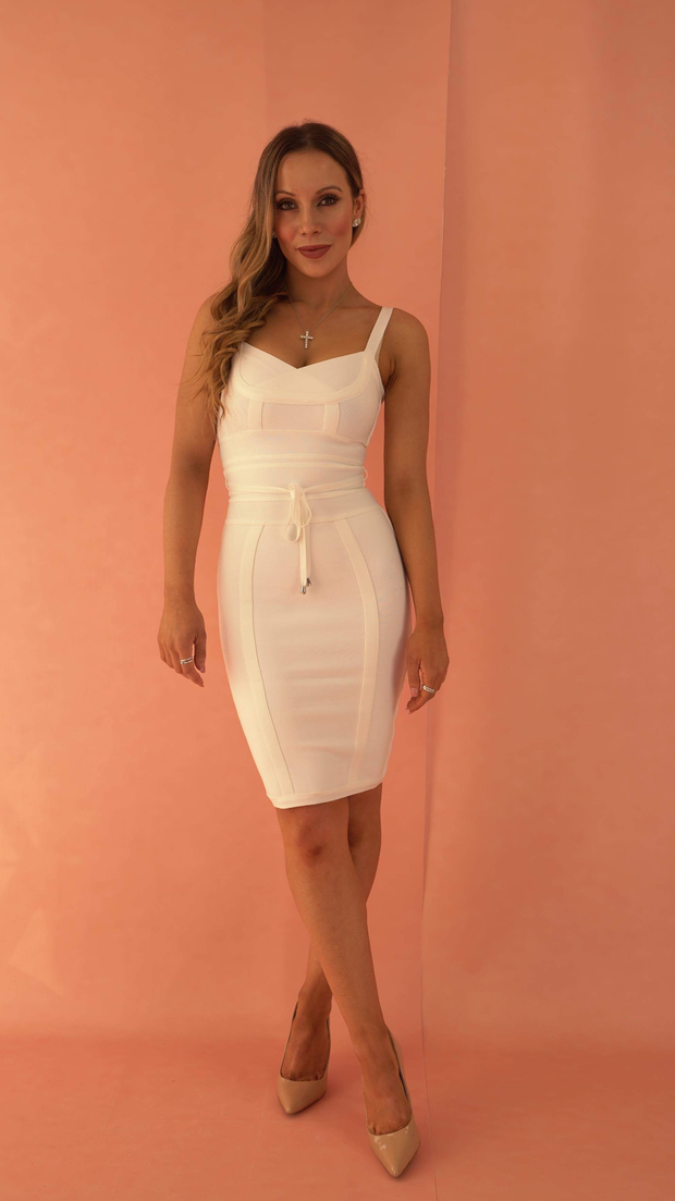 Lucinda White Bandage Dress