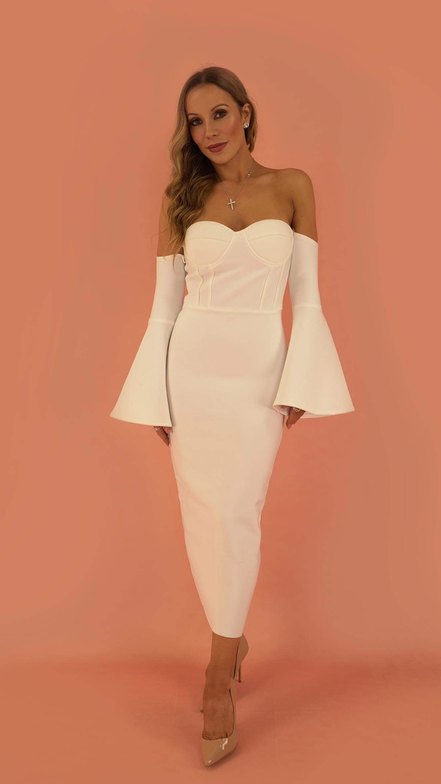 Madonna White Bandage Dress