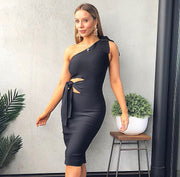Zemira Black Bandage Dress