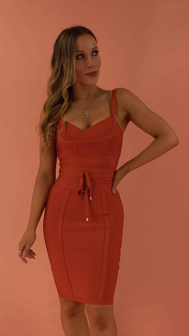 Lucinda Rusty Bandage Dress