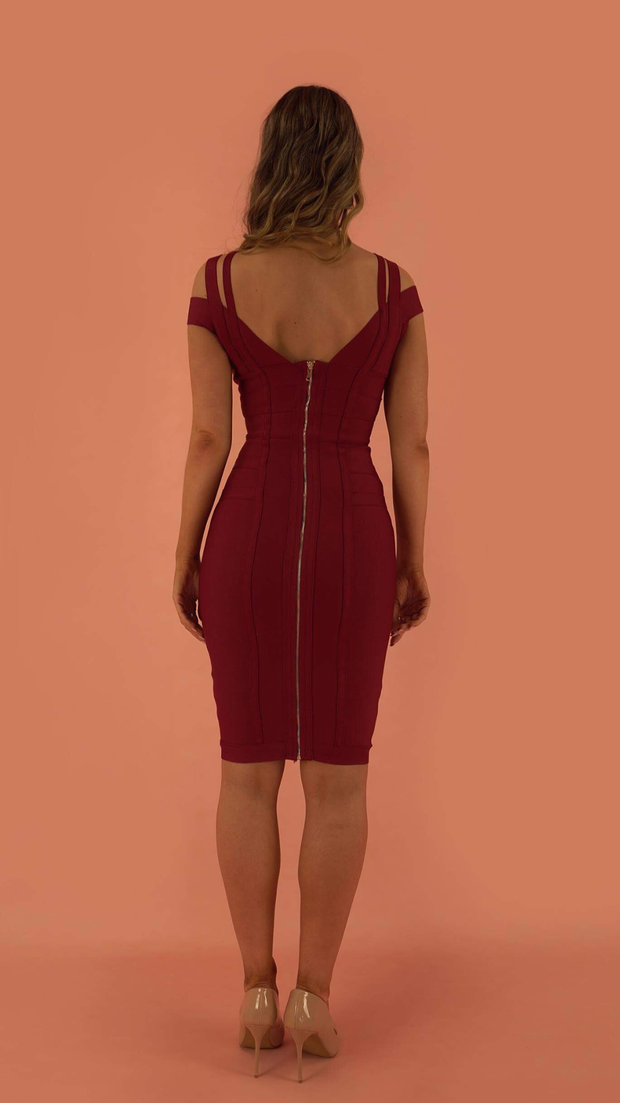 Audrey Red Bandage Dress