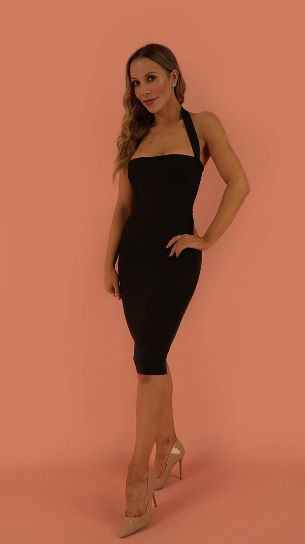 Chara Black Bandage Dress